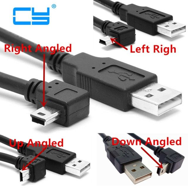 Connector and Terminal USB 2.0 Type A Male UP Angled to USB A Male Data Extension Adapter Short Cable