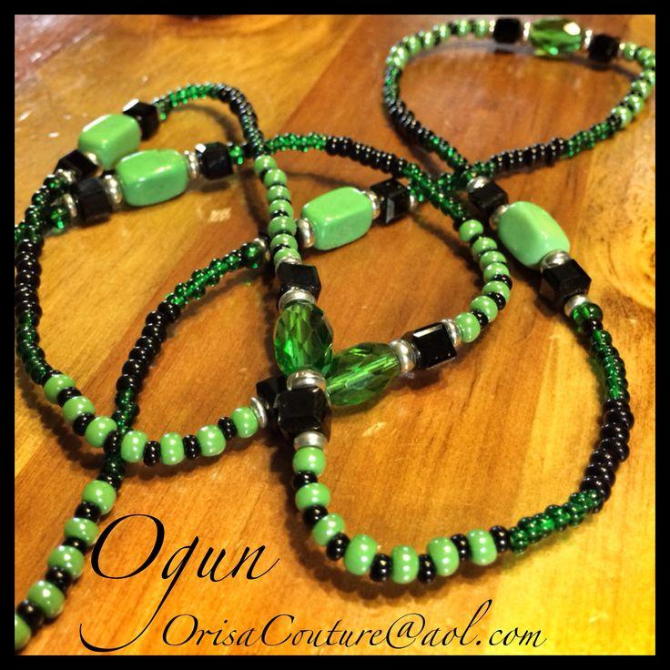 Ileke Ogun For custom pieces and/or pricing information send an e-mail to OrisaCouture@aol.com #ileke #ogun #oggun #orisa #orisha #lukumi #santeria #yoruba