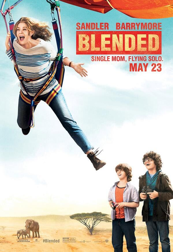"""Blended"" Poster Featuring Drew Barrymore, Braxton Beckham And Kyle Red Silverstein"