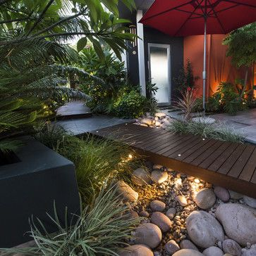 Landscaping & Gardens Design Ideas - subtropical & contemporary