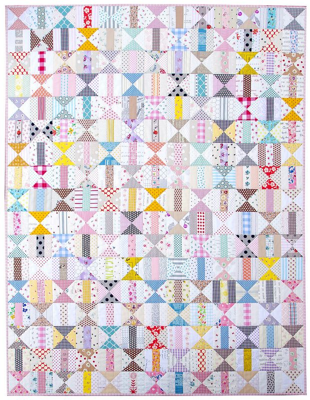 Two Block Patchwork Quilt - The Finished Quilt