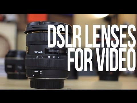 Great online tutorial on how film using a DSLR camera, what lenses need to be used and how they can enhance your project.
