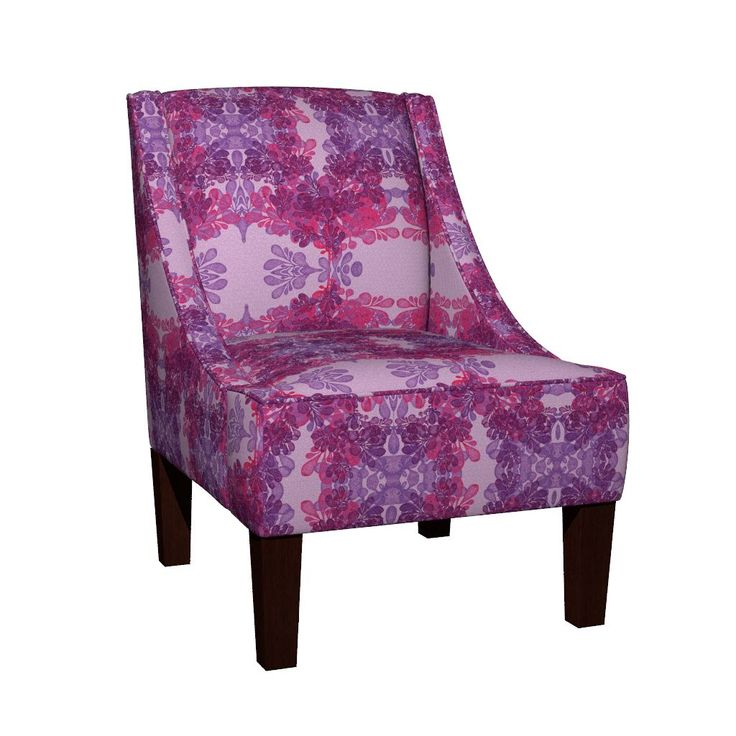 Venda Sloped Arm Chair featuring HELLENIC PURPLE SEAWEEDS by joancaronil | Roostery Home Decor