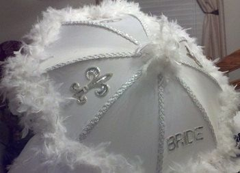 Bride and Groom Second Line Umbrellas 19 inch Set by lecooper123