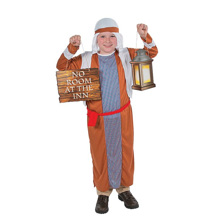 Child's Innkeeper Costume & Prop Set - OrientalTrading.com