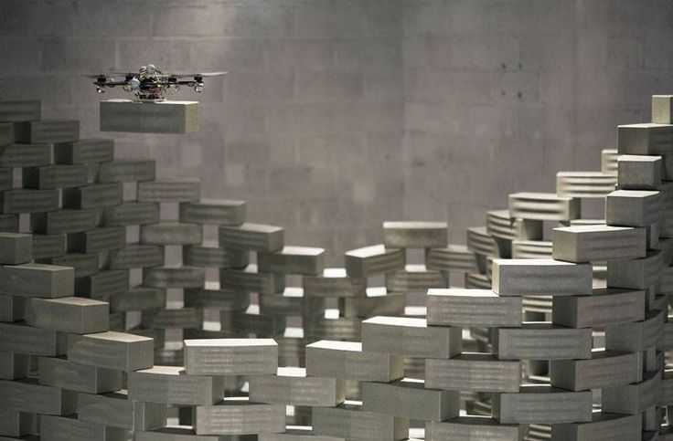 Drones could be programmed to construct buildings! Swiss architecture firm Gramazio & Kohler Architects and roboticist Raffaello D'Andrea collaborated with ETH Zürich to program drones to construct the six meters tall tower, made out of 1.500 elements at the Frac Centre-Val de Loire in Orléans, France.