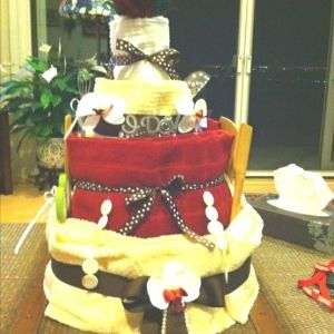 Towel cake by Melissa L.