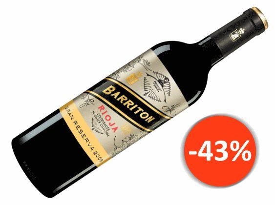 Barriton Gran Reserva 2009 für nur 14,14€ statt 24,90€ mit -43% Edel gereifte Rioja Gran Reserva!  Kaum eine Kellerei gönnt sich heute noch den Luxus, ihre Weine über viele Jahre hinweg reifen zu lassen. Wer sich jedoch die Zeit nimmt, dessen Geduld wird überreichlich belohnt.   #aktuelles Wein Angebot #Barriton #Barriton Gran Reserva #Italien #Rioja #Rotwein #Rotwein Angebote #Tempranillo #Wein kaufen