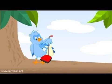 Uccellino sbadato fa gli auguri di Buon Compleanno - Cartoline.net