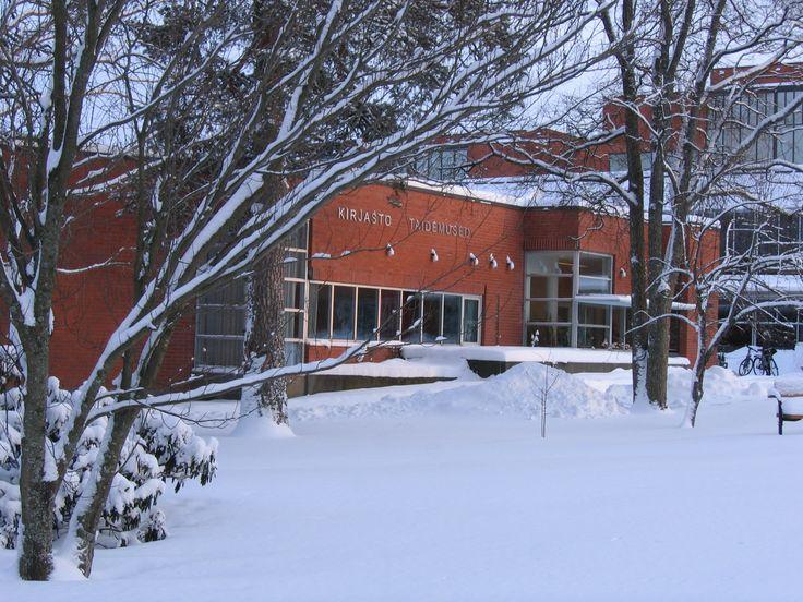 Talvinen kirjasto