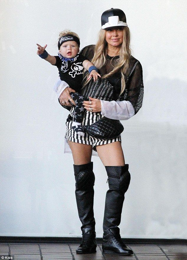 'My angel turned 1 year old'! The Black Eyed Peas singer Fergie, 39, was spotted in Brentw...