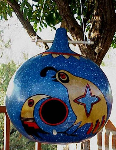 birdhouse: Gourds Birdhouses, Painted Gourds, Birds House, Awesome Birdhouses, Birdhouses Feeders Bath, Bird Houses, Birdhouses Ideas, Gourds Birds, Paintings Gourds