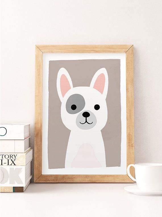 Animal Art, Tier-Kindergarten-Prints, Zoo Tierbabys, Hund Kinderzimmer Decor, Cute Kindergarten-Kunst, Baby Animal Prints, Hund hübsch drucken, Kids-Dekor