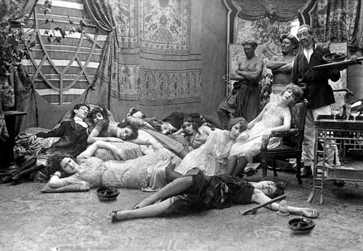 Opium party, 1918.
