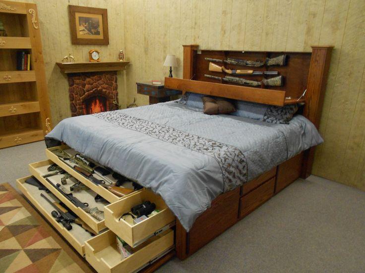 Hidden Gun Storage Ideas http://getaddicted.net/hidden-gun-storage-ideas/