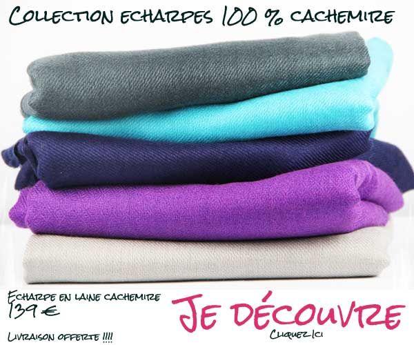 Découvrez la nouvelle collection d'écharpes en laine cachemire d'Inde. Des écharpes indiennes artisanales fabriquées par les artisans indiens.