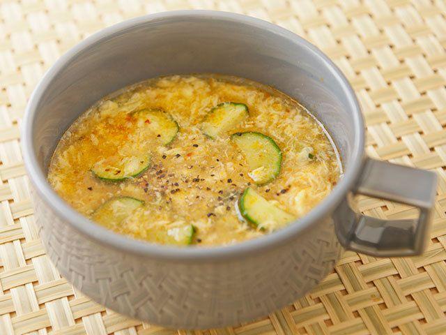 きゅうりのだしマリネで作るピリ辛スープ 香味野菜を混ぜるだけの3分レシピ