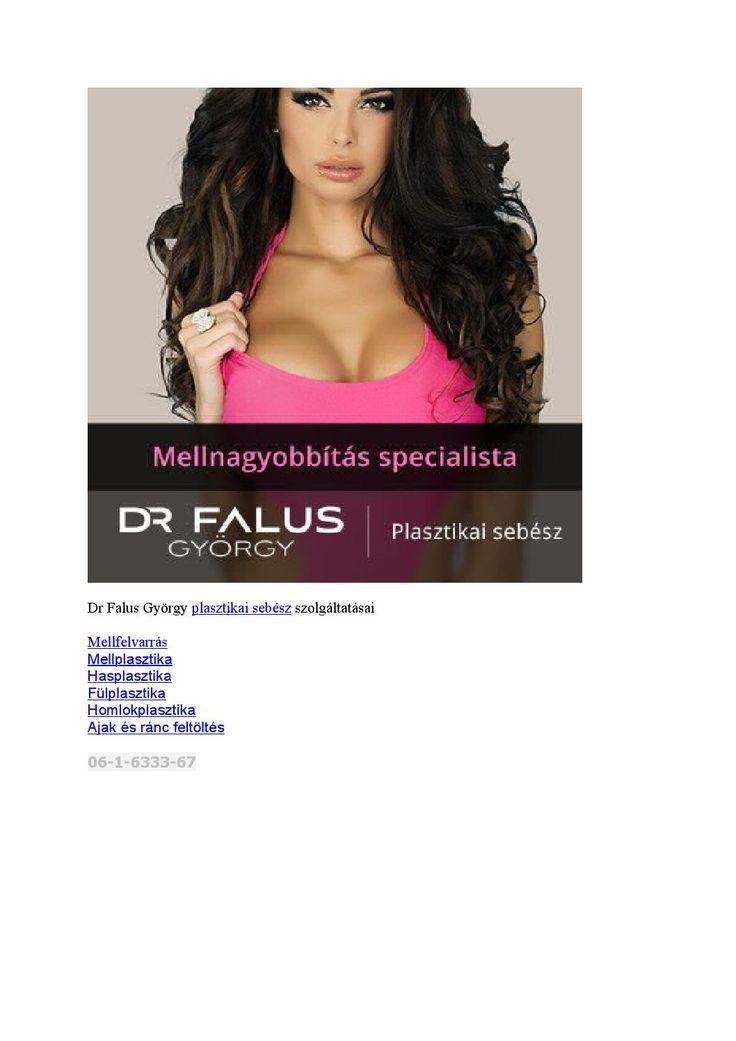Dr falus györgy #plasztikai #sebész szolgáltatásai