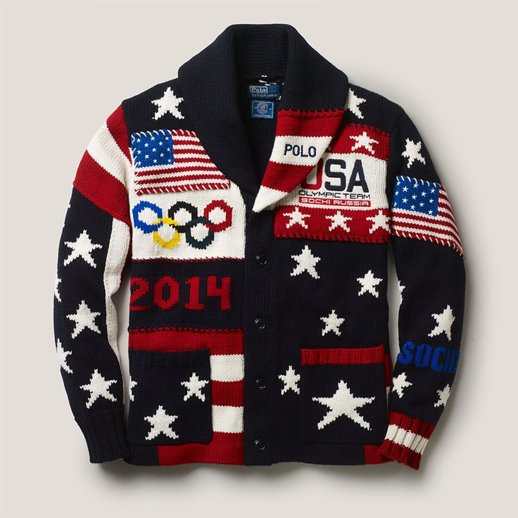 Team USA 2014 Olympics | Ralph Lauren - oh no...a patriotic version of the Ugly Christmas Sweater!