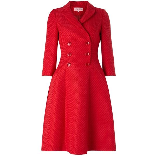 Phase Eight Red Dress Coat (£149) ❤ liked on Polyvore featuring dresses, sale women dresses, formal dresses, phase eight dresses, wrap dress, phase eight and red dress