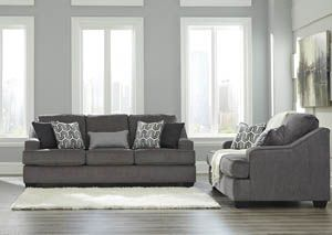 Gilmer Gunmetal Sofa and Loveseat, /category/living-room/gilmer-gunmetal-sofa-and-loveseat.html