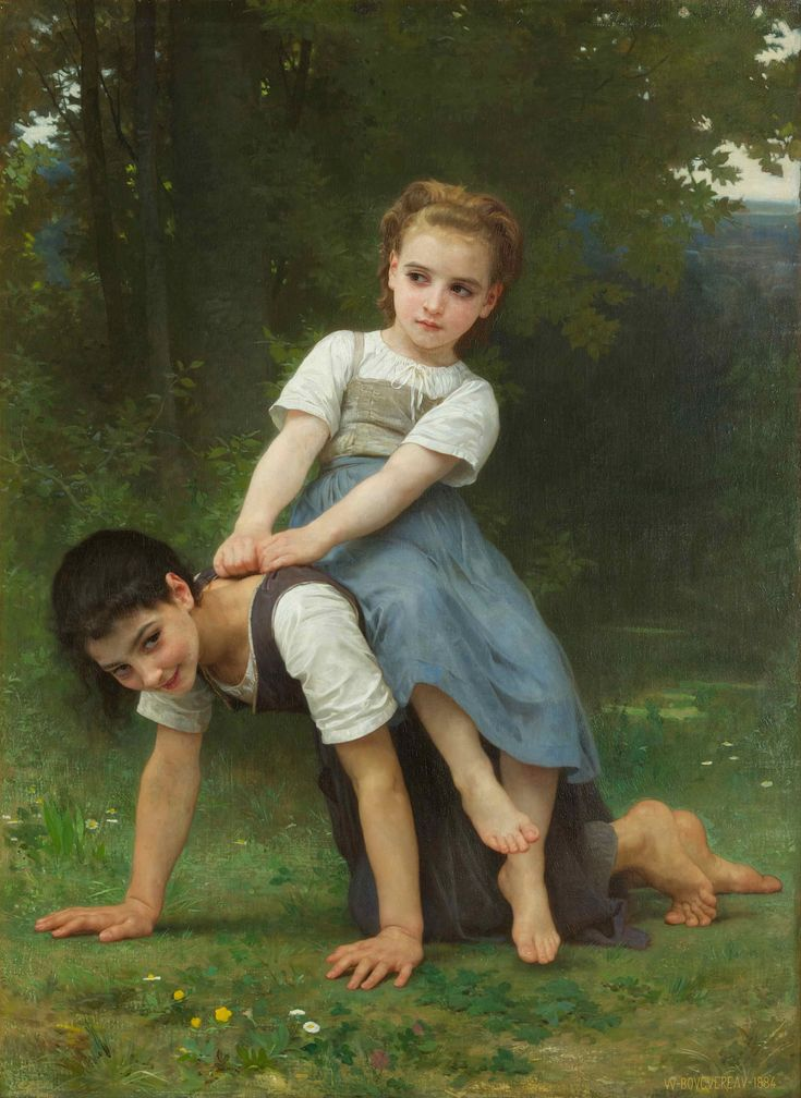 The Horseback Ride by William-Adolphe Bouguereau - Another painter of children, but his expression of feelings of the  children is amazing and his fine details in work.