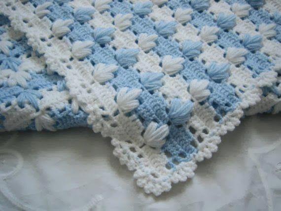 Babydeken haken. Foto's volgen voor instructie. Zou iemand de beschrijving kunnen vertalen? Ik vind de deken prachtig!