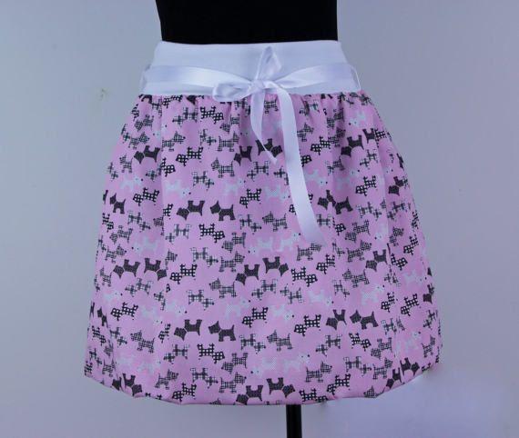 Pink dog print skirt women skirt bubble skirt summer skirt