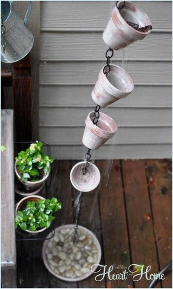 Rain Chain ~ DIY! We have been getting so much rain , I need to make one of these !