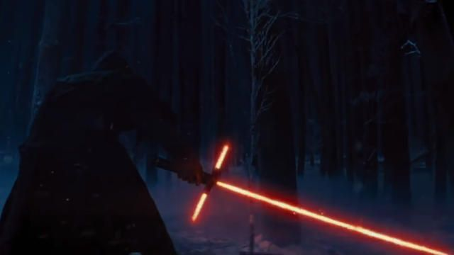 Notice how the lightsaber sputters, crackles, and flickers as the character turns it on. As io9 notes, that's a sign of shoddy workmanship. But don't just look at it, listen to it. The sound of a lightsaber turning on is always smooth around the edges, but this lightsaber sounds dirty, and full of static.