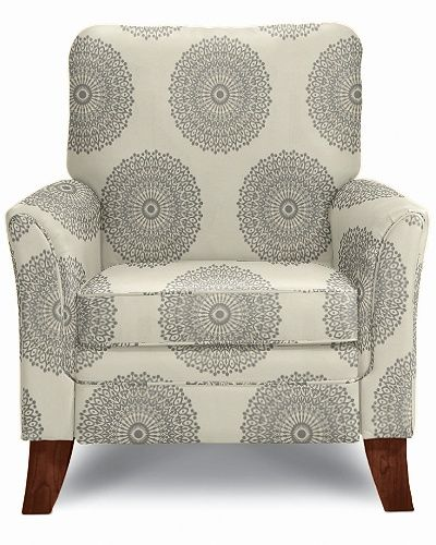 Love the look of this Riley High Leg Recliner by La-Z-Boy in Sterling Fabric and can see myself blogging in this chair #MomCave #CBias