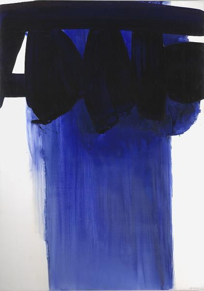 Peinture, 202x143 (Pierre Soulages) via artmatters-6 November 1967, Oil on canvas.