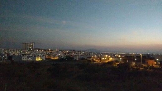 Llegando la noche. El Refugio, Queretaro, Mexico.