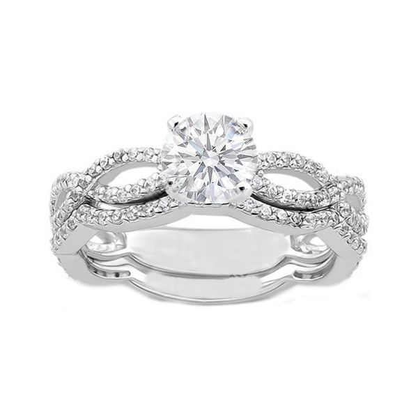 Engagement Ring - Vintage Style Round Diamond Infinity Swirl... - Polyvore