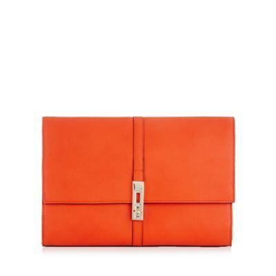 Star by Julien Macdonald Designer orange twist lock clutch bag- at Debenhams.com