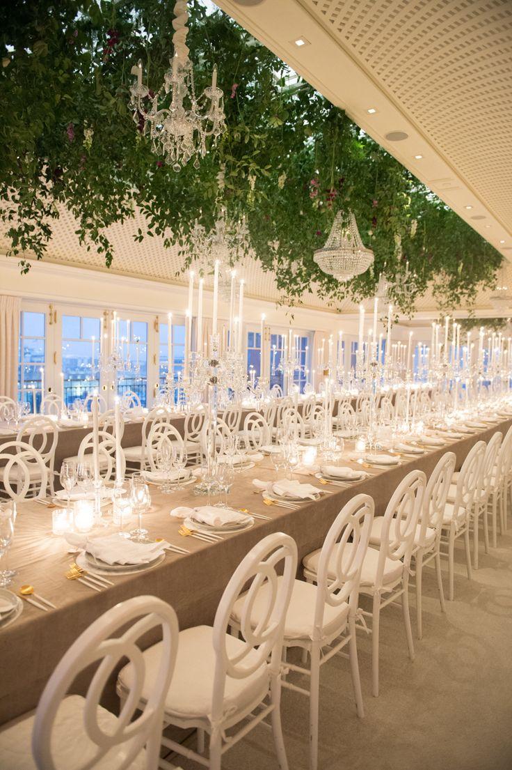 wedding reception restaurants mn%0A The Chicest Ballroom Wedding Overlooking the White House