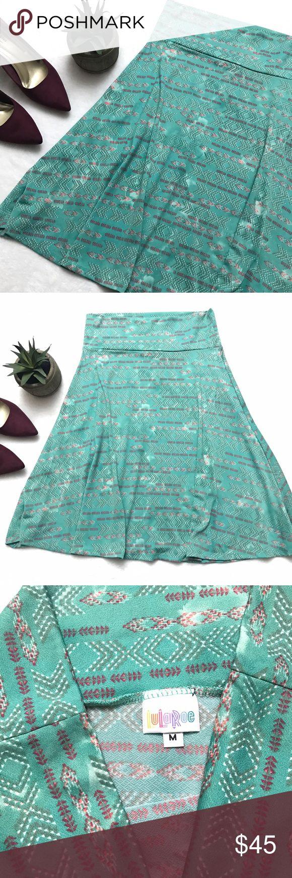 LULAROE Azure Skirt Mint Green Tribal Arrows LULAROE Azure Skirt Mint Green Tribal Arrows size medium. Excellent condition- like new! LuLaRoe Skirts