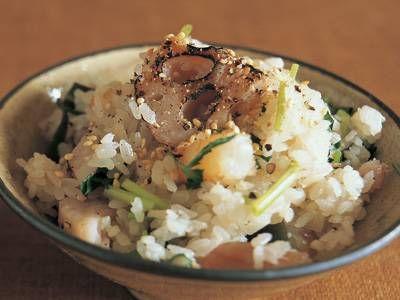 焼きれんこんの炊き込みご飯レシピ 講師は高山 なおみさん|使える料理レシピ集 みんなのきょうの料理 NHKエデュケーショナル