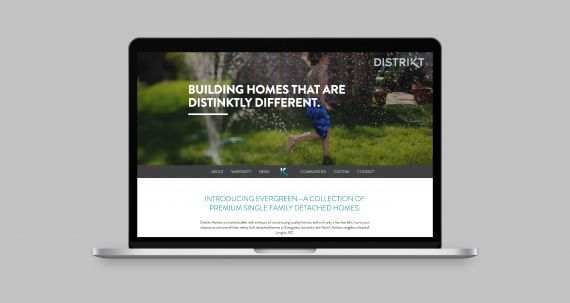 Distrikt Homes responsive website design. #developer #homebuilder #distinktlydifferent #newhomeconstruction #showhomes #residential #realestate #LowerMainland #company Branding and web design by #Studiothink / Vancouver, BC #SurreyBC #branding #design #stationery #brochure #website #webdesign #creative #agency