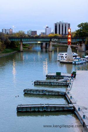 The Forks Harbor in Winnipeg, Manitoba