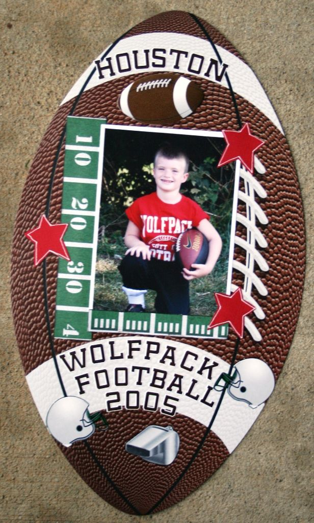 Reminisce Wolfpack Football Layout - Scrapbook.com