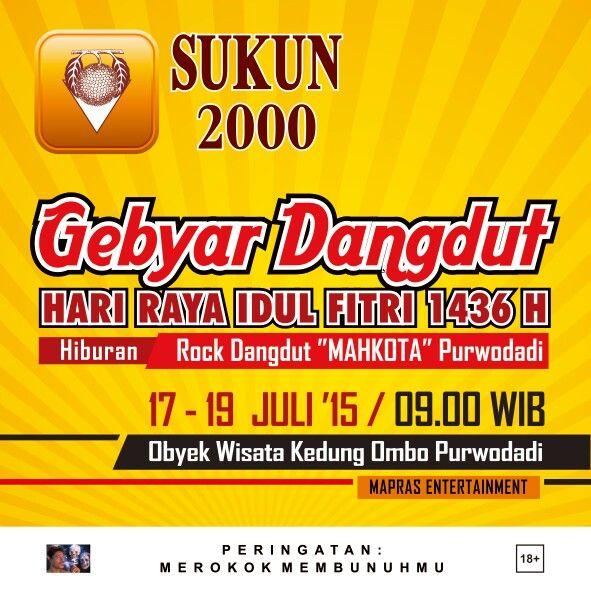 Gebyar Dangdut Idul Fitri 1436 H Kedung Ombo, Purwodadi