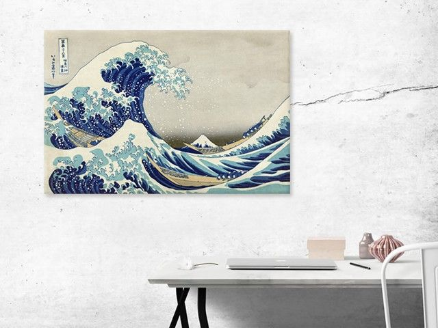 Beautiful artwork ''Great Wave off Kanagawa'' by Hokusai.  Avaliable as print on canvas, paper, magnet and more!