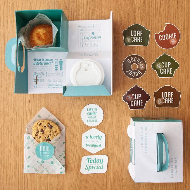 Müd (Student Work) | Packaging of the World: Creative Package Design Archive and GalleryFood Packaging, Cookies, Bakeries Packaging, Package Design, Packaging Design, Student Work, Fast Food, Lactose Intolerance, Beatrice Meny