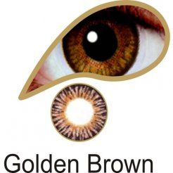MesmerEyez Natural Blendz 1 Month Golden Brown Contact Lenses