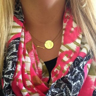Silver & Gold Necklace | Signature Engravable Disc Necklace | Stella & Dot