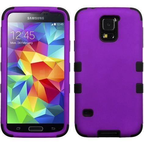 MYBAT TUFF Hybrid Case for Samsung Galaxy S5 - Grape/Black