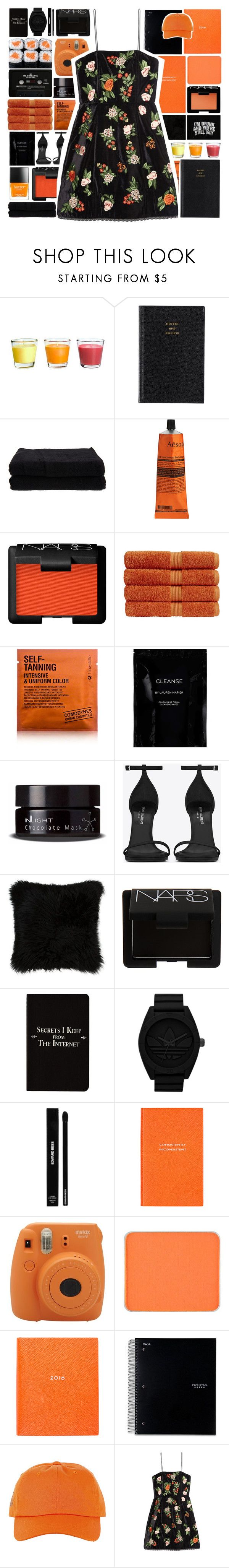 """""""OJ + BlK"""" by puhizaxox ❤ liked on Polyvore featuring Prada, Home Source International, Aesop, Butter London, NARS Cosmetics, Christy, Comodynes, Cleanse by Lauren Napier, Floyd and Inlight Skincare"""