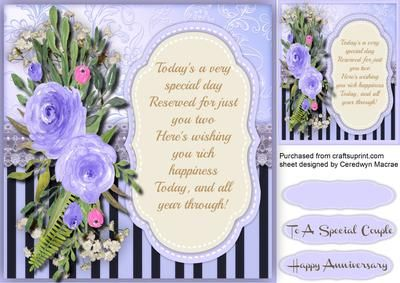 Lovely Anniversary Wishes 2  on Craftsuprint - Add To Basket!