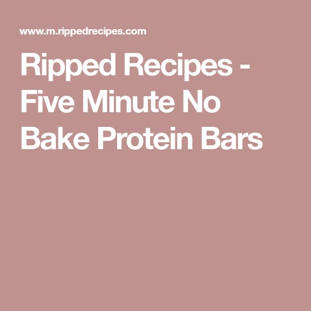 Ripped Recipes - Five Minute No Bake Protein Bars